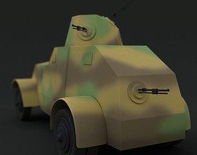 3D armoured Ursus wz 29 Simple model