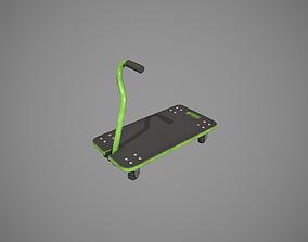 Transport Trolley - Green 3D asset