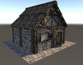 Medieval City House 03 3D model