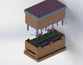 Plastic injection mold set 3D