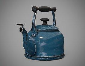 Game-Ready Tea Kettle for UE4 3D model