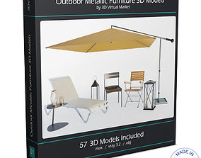 Outdoor Metallic Furniture Accessories Collection 3D