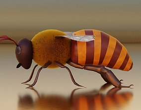 3D asset Realistic Honey Bee Rigged for Animation