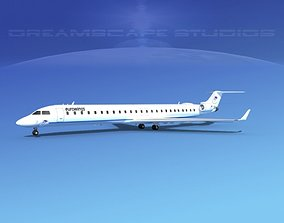 3D model Bombardier CRJ1000 Eurowings
