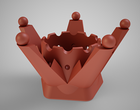 Crown Pen Holder 3D print model