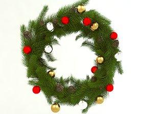 Christmas wreath holiday 3D model
