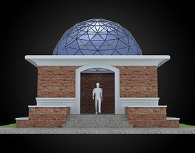 3D model Dome 12x incl base structure with entry opening