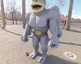 3D model VR / AR ready Pokemon Machamp