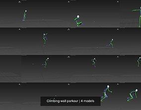 3D model Climbing wall parkour 3