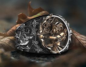 3D printable model Diana the huntress ring