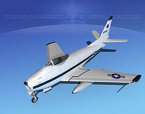 North American F-86 Sabre Jet NASA 3D model