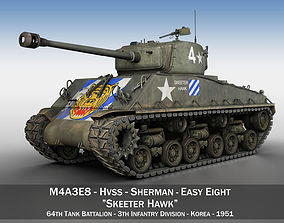 3D model M4A3E8 Sherman - Easy Eight - Skeeter Hawk