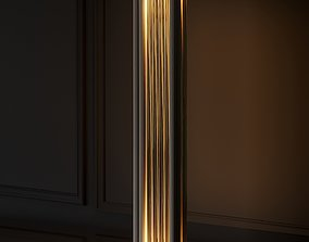 VeniceM Numa Floor Light in Brass and Glass by Massimo 3D