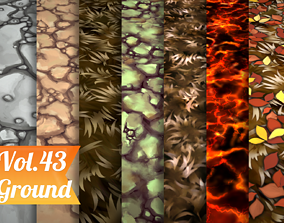3D model Stylized Ground Vol 43 - Hand Painted Texture