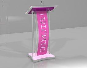 3D asset mila rostrum - podium - stage - presentation