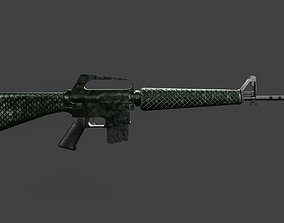 3D model M16 Low-poly Textured