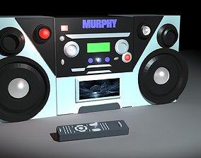 fancy cd player 3D asset