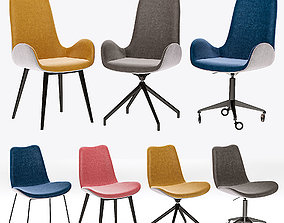 midj - collections Dalia S M TS T Chair 3D model