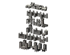3D print model Medieval modular building miniature props