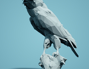 Walkerbird Low Poly Bird 3D print model
