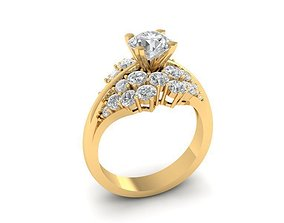 1198 Diamond Ring 3D print model