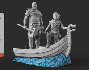 Grumpy old Kratos 3D print model
