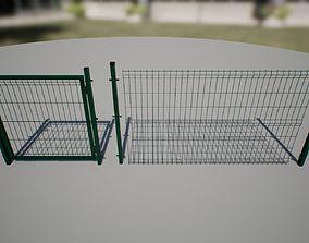 3D model Modular Fence asset game-ready