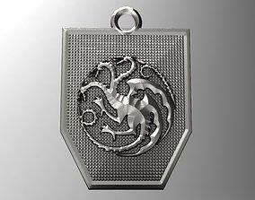 Game of thrones Targaryen pendant 2 3D printable model