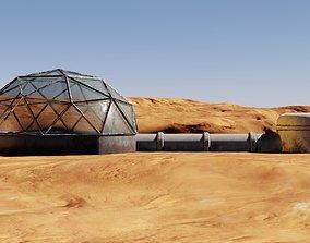 Mars base 3D model pbr