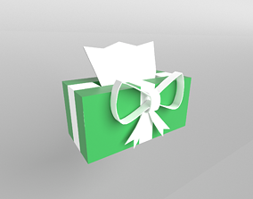 Present Tissue Box v1 002 3D asset