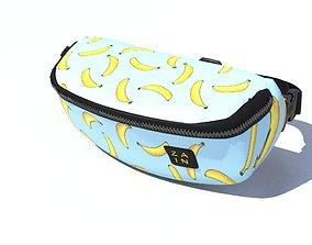 bag 3d model For a belt for an interior