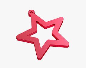 Earrings star 3D print model