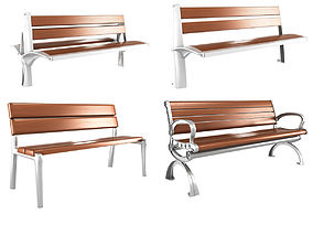 3D model Modern Bench collection 6