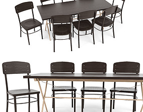3D model Ryggestad Table idolf Chair by IKEA