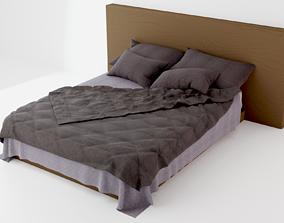 Modern Bed 01 2020 3D model