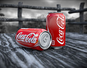 3D model animated Coke Can