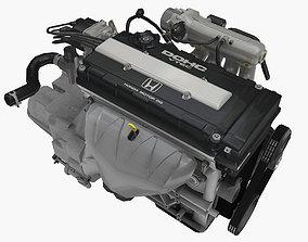 Honda B16B engine 3D asset