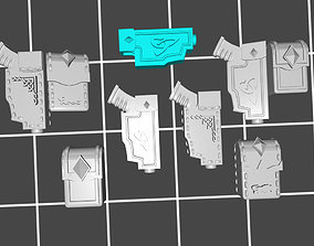 Pistol holster and pouch accessories 3D printable model 3