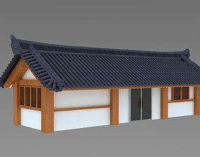 Hanok korean style house 3d model