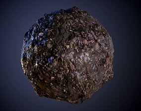 3D model Stone Muddy River Bed Seamless PBR Texture