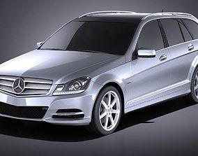 3D Mercedes-Benz C class Estate 2012 VRAY