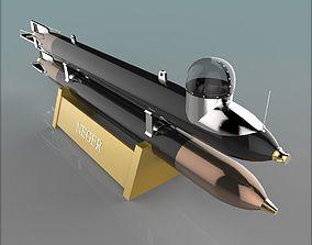 3D model German Manned Torpedo Neger