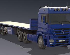 3D asset Mercedes Actros Truck