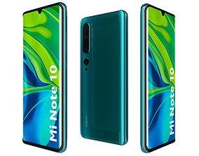 electronic 3D Xiaomi Mi Note 10 Aurora Green