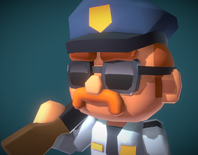 3D model Police Officer Redford - Proto Series