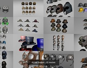3D PBR All hat models