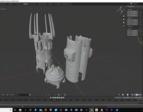 3D Printable Light sabre dark side hilt
