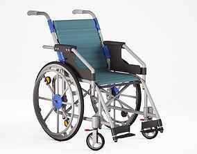 Wheelchair 3D model stretcher surgery