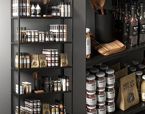 jam kitchen decor set 3D model