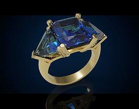 Three gemstone ring Cg 3 10 3D printable model